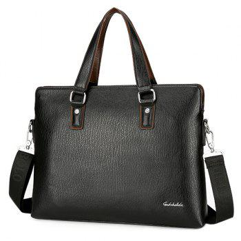 Briefcase With Zip Around Wallet - BLACK