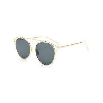Metal Hollow Out Cat Eye Frame Sunglasses