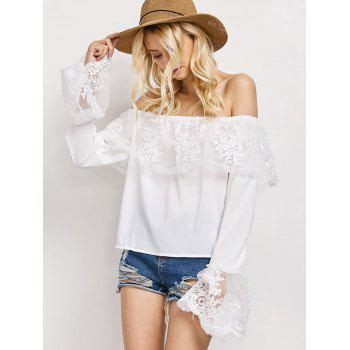 Lace Frill Off The Shoulder Top