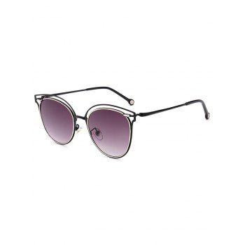 Double Rims Hollow Out Cat Eye Sunglasses