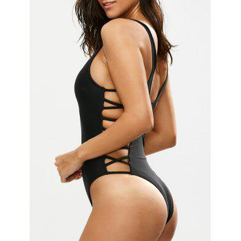 Lacing Up One Piece Swimsuit