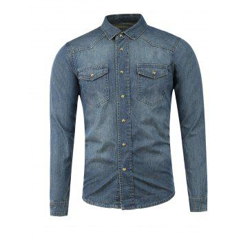 Slim Fit Button Up Pocket Denim Jacket