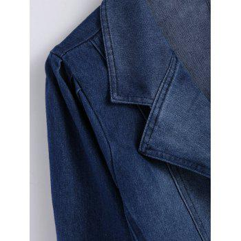 Lapel Jean Two Button Design Jacket - DENIM BLUE XL
