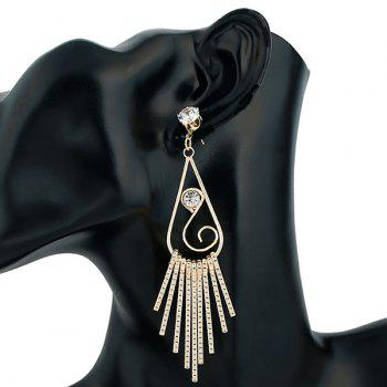 Water Drop Zircon Dangle Earrings - CHAMPAGNE
