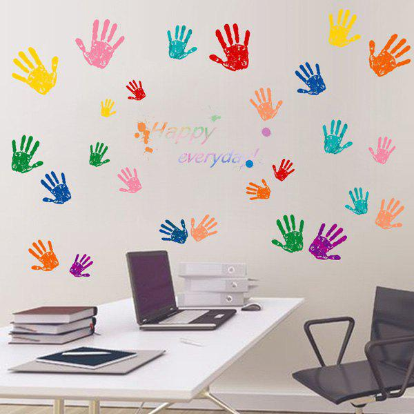 Colorful Hands Pattern PVC Removable Wall Stickers family wall quote removable wall stickers home decal art mural