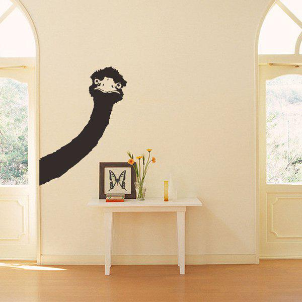 2018 cartoon ostrich head room decor wall stickers black wall sticker for living room wall sticker for living rooms