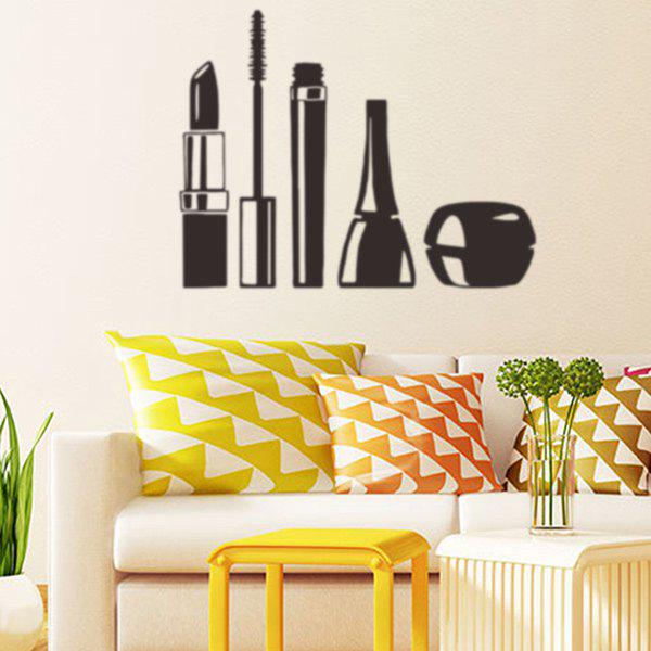 Cosmetic Pattern Removable Wall StickersHome<br><br><br>Color: BLACK