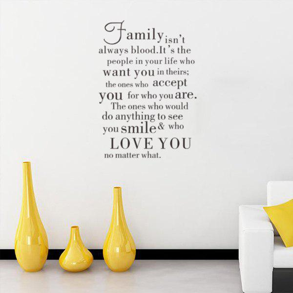 English Proverb Room Decorative Wall Stickers