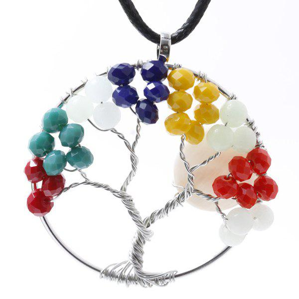 Circle Life Tree Pendant NecklaceJewelry<br><br><br>Color: COLORMIX