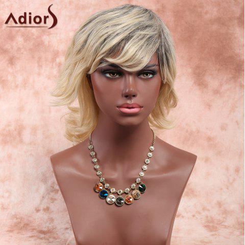 Adiors Layered Side Bang Medium Fluffy Curly Synthetic Wig - OMBRE 1211