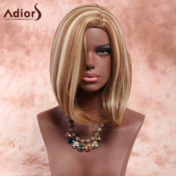 Adiors Medium Side Parting Straight Highlight Bob Synthetic Wig - COLORMIX COLORMIX
