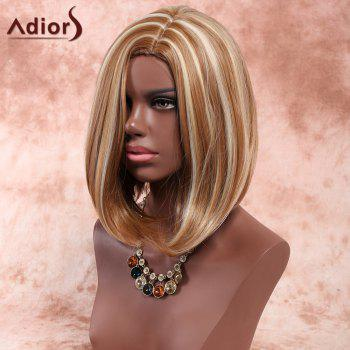 Adiors Medium Side Parting Straight Highlight Bob Synthetic Wig -  COLORMIX