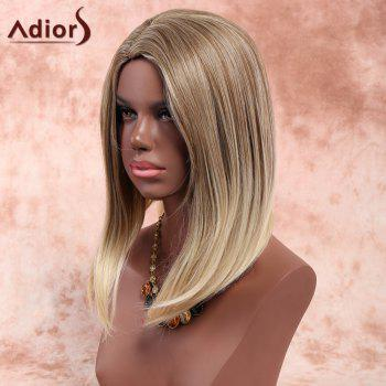Adiors Medium Side Parting Bob Straight Colormix Synthetic Wig - COLORMIX
