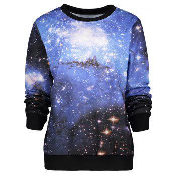 Crew Neck Galaxy Sweatshirt
