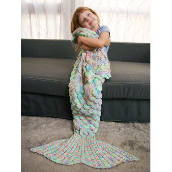 Keep Warm Ruffles Crochet Yarn Mermaid Blanket Throw For Kids