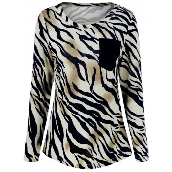 Zebra Print Pocket T-Shirt ZEBRA STRIPE