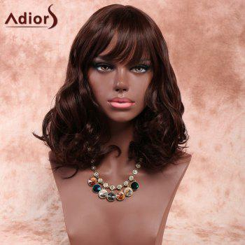 Adiors Inclined Bang Shaggy Wavy Short Synthetic Wig