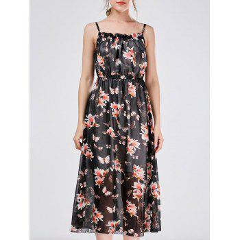 Bohemian Beach Chiffon Cami Floral Casual Dress