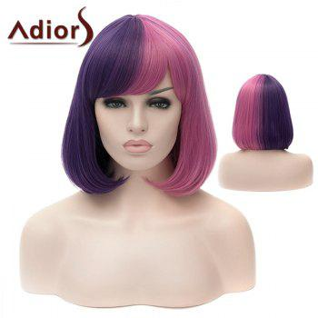 Adiors Silky Straight Short Bob Full Bang Colormix Synthetic Wig
