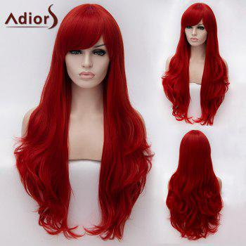 Adiors Inclined Bang Long Fluffy Natural Wavy Synthetic Wig