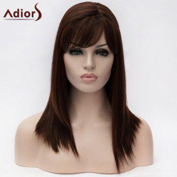 Adiors Long Inclined Bang Asymmetry Colormix Straight Synthetic Wig