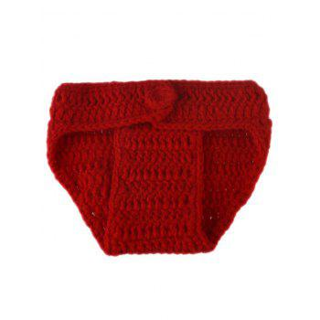 Newborn Baby Crochet Photography Prop Clothing Set - RED