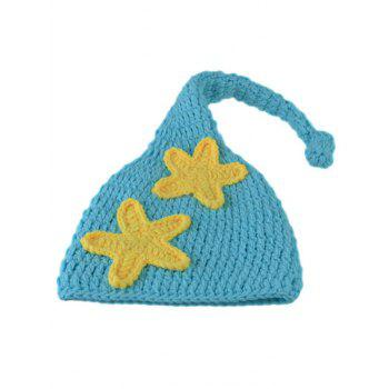 Manual Crochet Star Moon Pattern Infant Photography Clothes Set -  LAKE BLUE