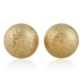 Round Dull Polished Stud Earrings