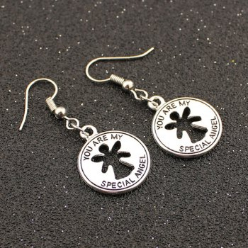 Hollowed Coin Shape Drop Earrings