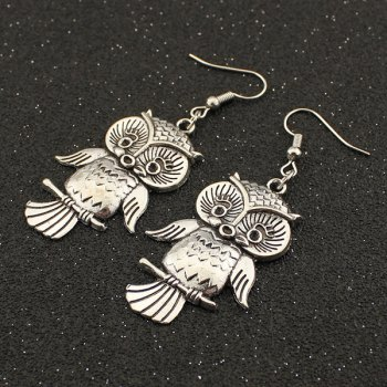 Night Owl Alloy Drop Earrings