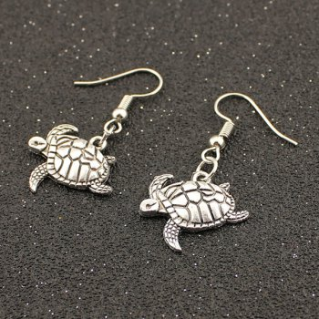 Tortoise Carved Drop Earrings