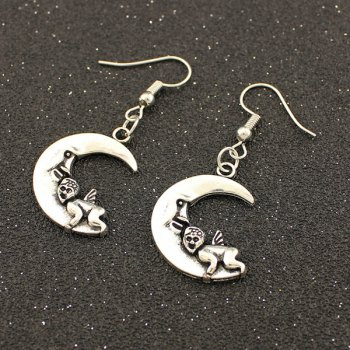 Angel Moon Drop Earrings