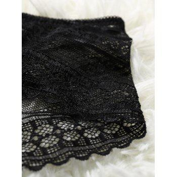 See-Through Lace Panties - BLACK ONE SIZE