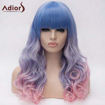 Adiors Long Colormix Full Bang Shaggy Wavy Synthetic Wig
