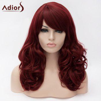 Adiors Side Bang Long Shaggy Wavy Synthetic Wig