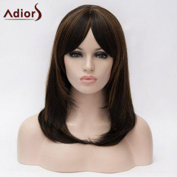 Adiors Inclined Bang Medium Colormix Straight Bob Synthetic Wig