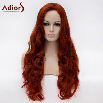 Adiors Side Parting Long Fluffy Wavy Synthetic Wig