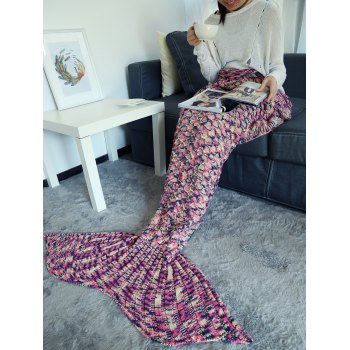 Camouflage Crochet Knit Mermaid Blanket Throw - TUTTI FRUTTI