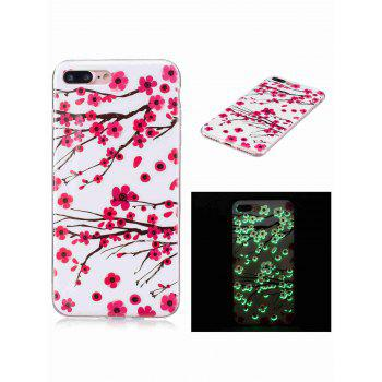 Plum Blossom Luminous Phone Back Cover For iPhone - RED RED