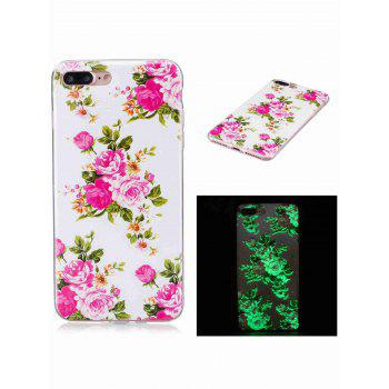 Soft TPU Flower Pattern Luminous Back Case For iPhone