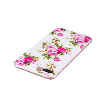 Soft TPU Flower Pattern Luminous Back Case For iPhone - COLORMIX FOR IPHONE 7 PLUS