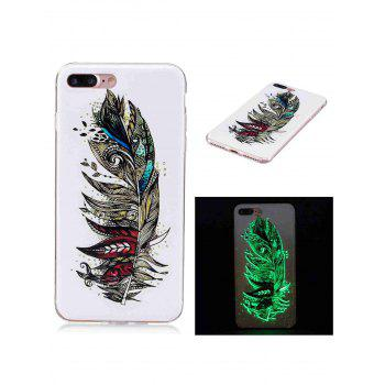 Soft TPU Feather Pattern Luminous Back Case For iPhone
