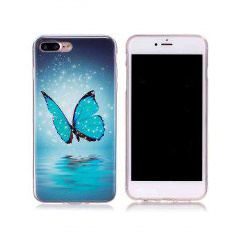 Butterfly Pattern TPU Luminous Back Case For iPhone - FOR IPHONE 7 FOR IPHONE 7