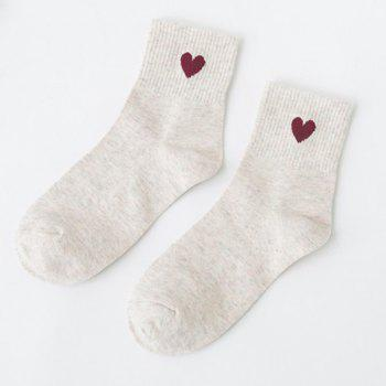 Small Heart Knitted Ankle Socks
