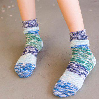 Color Block Knitted Socks