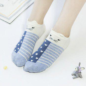 2 Pairs of Cartoon Rabbit Ankle Socks