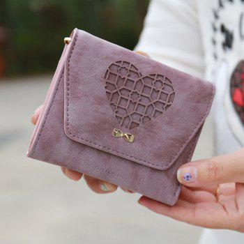 Hollow Out Heart Small Wallet