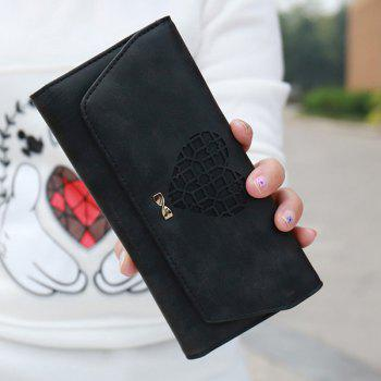 Hollow Out Heart Clutch Wallet