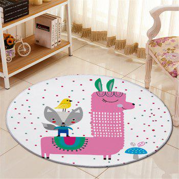 Cartoon Little Dot Antislip Bedroom Floor Round Carpet - WHITE WHITE