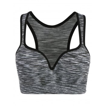 Low Impact Heathered Sports Bra